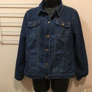 EUC Christopher & Banks jean jacket size M